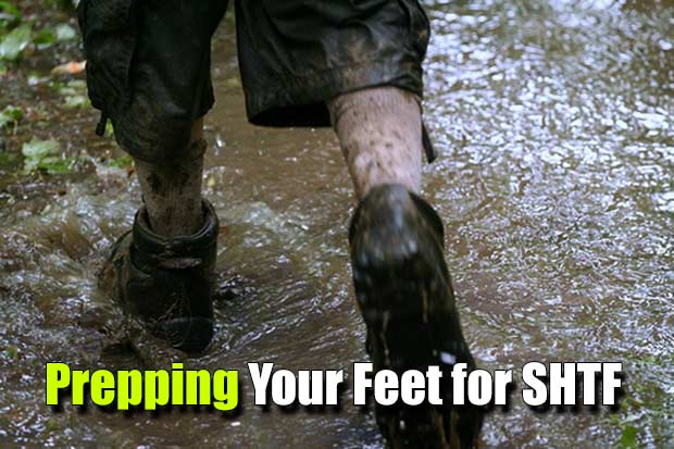 Preparing Your Feet for SHTF - Your feet are your most important transportation in any emergency situation. If you treat them bad they will make your journey a living hell. Luckily there are numerous tips and tricks for preparing Your Feet for SHTF.
