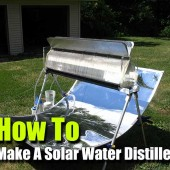 How To Make A Solar Water Distiller - Add water from any source (dirty, salty or otherwise unfit for drinking) in one side and over the course of the day get clean safe drinking water out the other side. Genius!