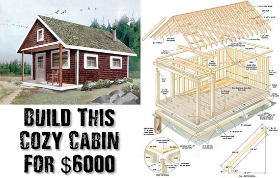 Build this cozy cabin for 6000 shtf prepping for How much does it cost to build a small cottage