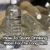 How To Store Drinking Water For The Long Term - Having enough drinking water to survive an emergency situation should be top on everyone's list. FEMA suggest having about 3 weeks supply of drinking water on hand. That is a good amount but for the long term you need other solutions.