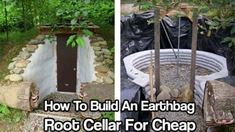 How To Build An Earthbag Root Cellar For Cheap