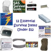 12 Essential Survival Items Under $12 - Luckily, there are some items that are both inexpensive and immensely useful for survival.