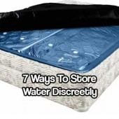 7 Ways to Store Water Discreetly - You can only go 3 days with out water in a survival situation. Less if its hot and you are exerting your self. Having water stored is vital to any survival plan. The next thing is to have as much water as you can physically hidden. The last thing you would want is people seeing you have water and coming in and taking it.