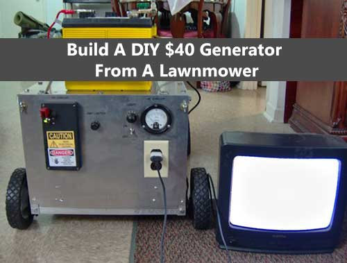 Build A DIY $40 Generator From A Lawnmower