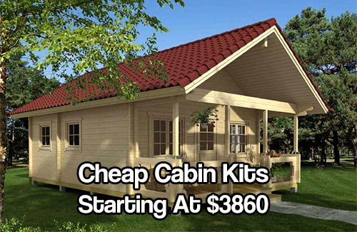 Cheap cabin kits starting at 3860 shtf prepping central for Cottage cabins to build affordable