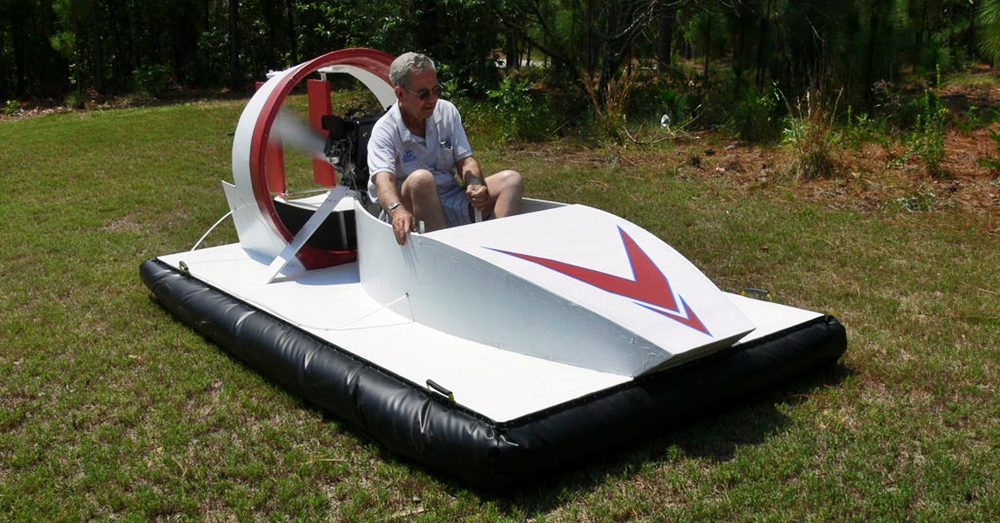 How To Build A Hovercraft - With one of these you could safely go from land to water to land again with no speed reduction and have a decent soft ride. I know this type of DIY might not suit everyone but it is a very viable form of transport if the roads are packed with cars and you need to get out of Dodge. Image Credit: mickydee, instructables.com