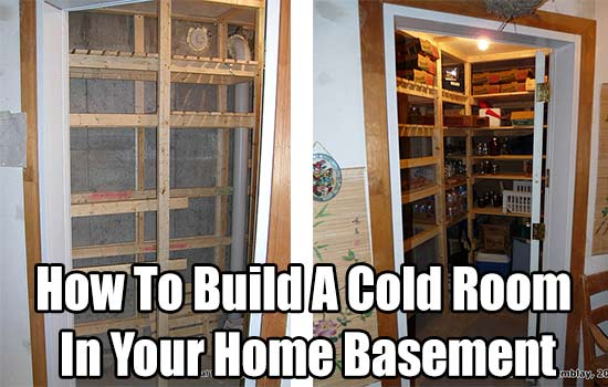 Build a cold room in your home basement - What temperature to keep house in winter when gone ...