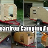 Easy DIY Teardrop Camping Trailer - The weather is perfect right now for camping. If you are like me and love camping in a little style, this project is for you. A teardrop camper is small, economic to tow and has everything you need to camp comfortably.