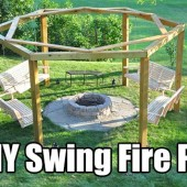 DIY Swing Fire Pit - It's fire pit time! You can just spend 100 bucks or so on a boring ready made metal fire pit or you can spend just a little more and have the best of all fire pit entertainment areas… ever.