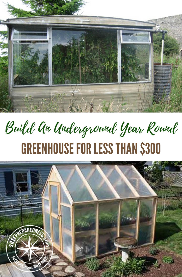 Build An Underground Year-Round Greenhouse For Less Than $300