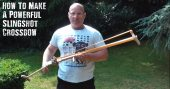 How To Make A Powerful Slingshot Crossbow - I just love this slingshot crossbow. It is very powerful and can even crush bone. This would be a very handy tool to have for a back up protection weapon or for silent (or as close as you can get) hunting.