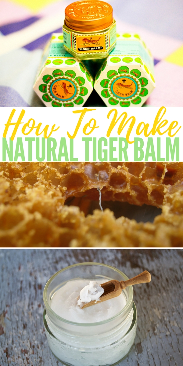 How To Make Natural Tiger Balm — The time-proven blend of herbal ingredients in Tiger Balm provides safe and effective topical pain relief for sore muscles, arthritis, neck and shoulder stiffness, and just about any other minor muscle or joint aches or pains that may come your way.