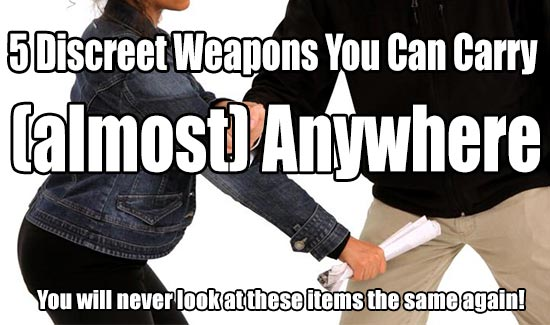 discreet weapons carry almost anywhere