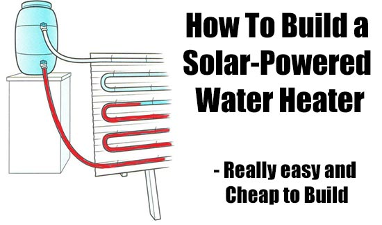 How to build a solar powered water heater shtf for How to make a simple solar panel for kids