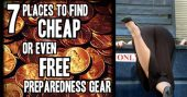 7 Places To Find Cheap OR Free Preparedness Gear - You have to look at it like this, when you start to prep you go all out on getting your foot on the preparedness ladder. I made that mistake and all I had to do was slow down, and gather information as to where you can get good deals and even FREE gear.