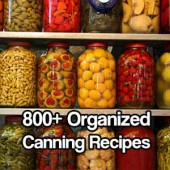 800+ Organized Canning Recipes