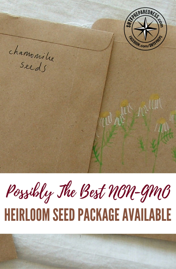 Possibly The Best NON-GMO Heirloom Seed Package Available — Yes, it's time to start planning your survival garden already! Get 26,000 seeds with 60 variety of vegetables for just 50 bucks!
