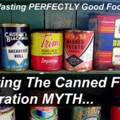 Busting the Canned Food Expiration Date MYTH - I know that a lot of people in America and in Europe have a thing about sell by or use by dates. I am guilty of this too. Did you know that this is totally wrong and you can actually use canned food many years after the date on the can?