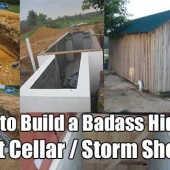 How to Build a Badass Hidden Root Cellar / Storm Shelter
