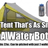 The Tent That's As Small As A Water Bottle