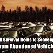 10 Survival Items to Scavenge from Abandoned Vehicles - Scavenging after SHTF carries significant stigma, invoking your most dreaded nightmares. During man-made or natural disasters (including war), scavenging is a common occurrence.