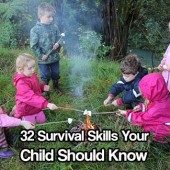 32 Survival Skills Your Child Should Know and Be Able to Do ASAP - We all live in an uncertain world. What if something happens to you and your child is left to fend for themselves? Would they survive?
