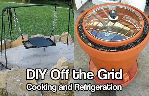 DIY Off the Grid Cooking and Refrigeration - When we are in a position where common luxuries are not available we must go into survival mode, where fridges are not an option to keep our food from spoiling quickly, and raw meat cannot be cooked in a pan with the simple turn of a knob or the push of a button.