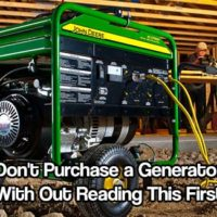 Don't Purchase a Generator With Out Reading This First - A generator will keep it on for an extended period of time afterwards until the electricity can be restored. This is a very helpful and even lifesaving invention – but there are a few things that you should consider before investing in one.