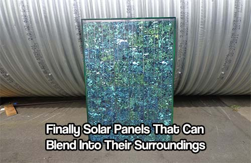Solar Panels That Can Blend Into Their Surroundings