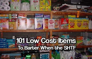 101 Low Cost Items to Barter When the SHTF - You don't need expensive items to barter with. In fact, in survival situations it is generally the small everyday items that people will be seeking. Imagine how valuable simple spices like cinnamon, salt, and pepper would be after two weeks of eating nothing but plain rice.