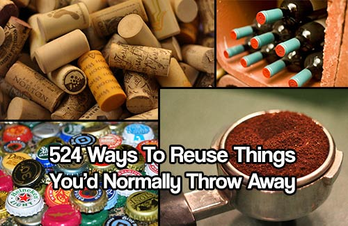 524 Ways to Reuse Things You'd Normally Throw Away - Things like old wine bottles and toilet paper rolls to old orange and lemons peels can go a long way. Even egg shells and used tea bags have multiple different uses, far past their original purpose.