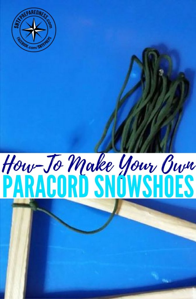 How-To Make Your Own Paracord Snowshoes — Harsh temperatures and serious weather conditions can be the line between life and death when you're in a survival situation. Depending on where you live, you may be acclimated to a certain climate, but everyone has the point where their body just cannot take it.