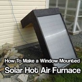 Window Mounted Solar Hot Air Furnace