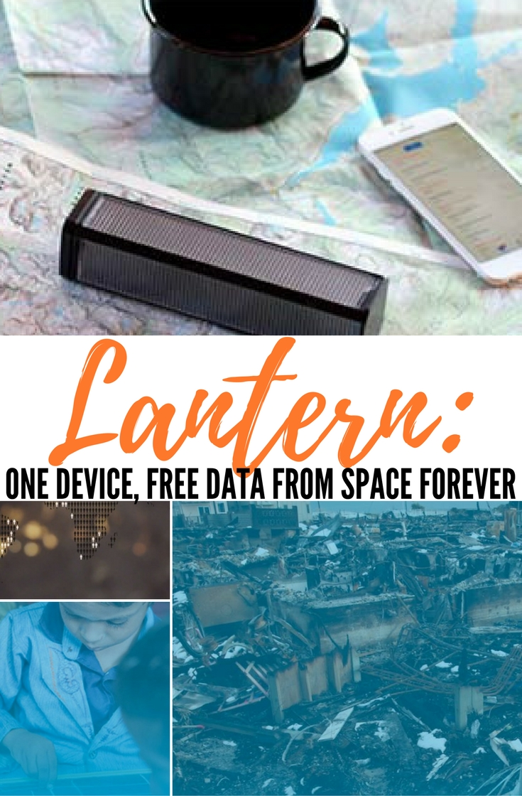 Lantern: One Device, Free Data From Space Forever — All data consumed on Lantern is anonymous. Access to news, civic information, commodity prices, weather, construction plans for open source farm machinery...anything. Outernet eradicates information poverty and censorship everywhere on Earth. Since Lantern is so small, it can be used discreetly.