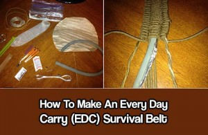 How To Make An Every Day Carry (EDC) Belt