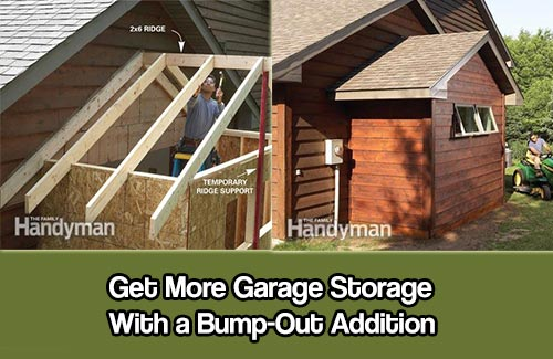 More Garage Storage With A Bump Out Addition Shtf