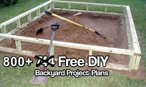 Do It Yourself Project: 800+ Free Do It Yourself Backyard Project Plans