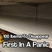 100 Items To Disappear First In A Panic