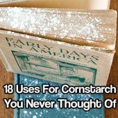 18 Uses For Cornstarch You Never Thought Of - Cornstarch usually comes out of the pantry only when you're cooking — it's a great way to thicken soups, stocks and sauces. But that's not all it's good for. Indeed, there's a wide array of practical uses for cornstarch outside the kitchen. From untangling knots to soothing sunburns