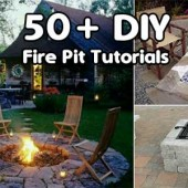 Over 50 DIY Fire Pit Tutorials