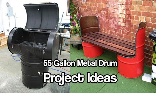55 Gallon Metal Drum Project Ideas - Is a barrel just a barrel? Not when it's DIY time! :)