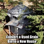 Convert a Used Grain Bin to a New House - From a distance they will look like a regular old grain bin and because of that if SHTF people may just move on by.