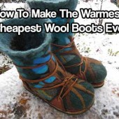How To Make The Warmest, Cheapest Wool Boots Ever