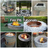 Over 50 DIY Fire Pit Tutorials - Build a fire pit this season and enjoy your back yard again!