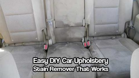 Easy DIY Car Upholstery Stain Remover