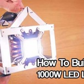 How To Build A 1000W LED Light - I almost choked on my coffee this morning when I saw this tutorial on how to build a 1000 watt equivalent LED light. That is some serious power that we all could use in an emergency situation.