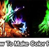 How To Make Color Fire - Have you ever gone to a bonfire and when someone tossed a log on, the fire turned colors? Most of us have seen fires that burn in blues, greens, or even bright flashes of light in the movies but most don't realize is these chemical reactions can be from simple items found in the common household!