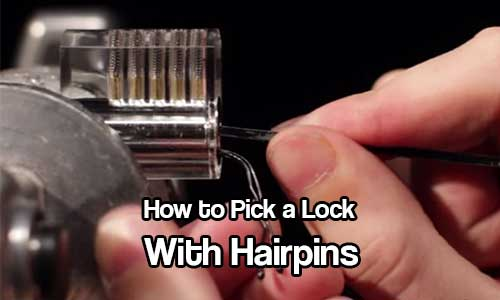 """How to Pick a Lock With Hairpins - """"How to Pick a Lock With Hairpins https://www.shtfpreparedness.com/how-to-pick-a-lock-with-hairpins/ Knowing how to pick a lock is a great skill to learn, you will save a fortune on locksmith call out costs and in a survival situation could mean the difference between life and death."""""""