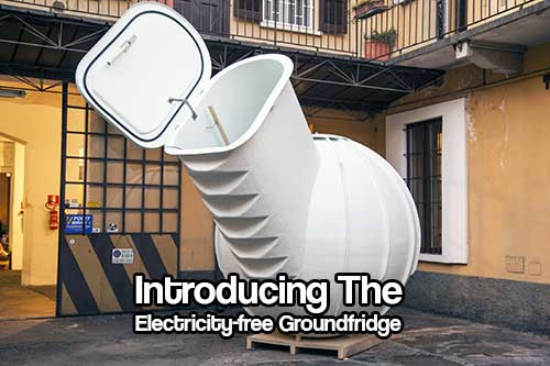 Introducing The Electricity-Free Groundfridge -  There is no building permit required to place the Groundfridge, and the displaced soil doesn't need to be removed, which makes it an appealing addition to any home.