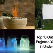 10 Simple But Cool Outdoor DIY Projects You Can Do In Under An Hour - All these are designed to take less than an hour, meaning you can be done and cleared up before you know it. From getting rid of pests with funky tiki torches to making a mini fire pits, these ideas are sure to inspire you to get your hands dirty. If only for an hour at a time!
